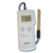 Máy đo pH-Nhiệt độ cầm tay điện tử hiện số model Mi105