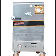 Tủ nấu cơm 10 khay dùng Gas nhập khẩu (30kg gạo/lần) KN-THTQG10K