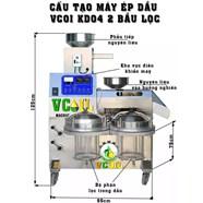 Máy ép dầu VCOIL KD04 2 bầu lọc công suất ép 20-25kg/giờ