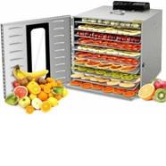 Máy sấy hoa quả, thực phẩm đa năng 10 khay 3 lớp inox