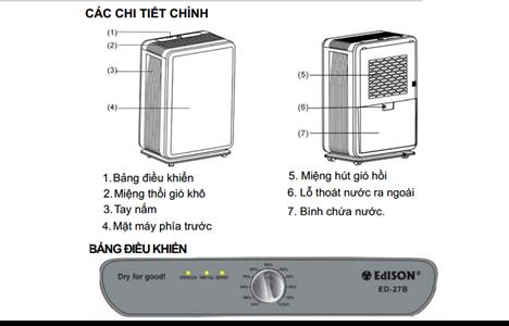 may hut am edison ed-27b(27lit/ngay) hinh 5