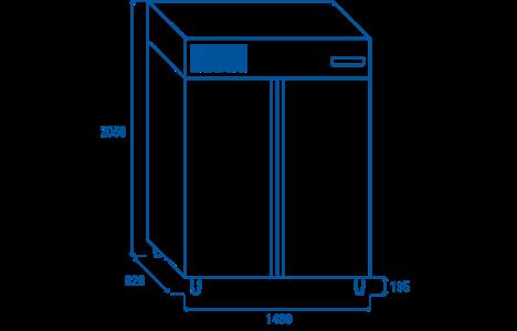 tu dong cool head rn 1400 (inox - freezer cabinet) hinh 11