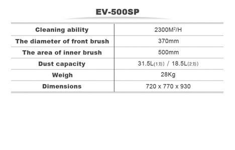 may cha san ev-500sp hinh 2