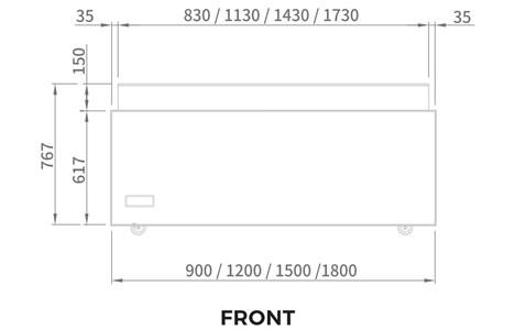 tu mat trung bay banh kem modelux 182 lit msos-1500 hinh 2