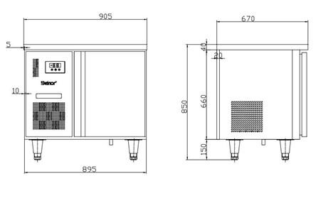 ban mat 1 canh inox kolner bn10-xl1 (lam lanh quat gio) hinh 2