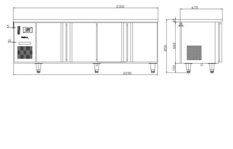 ban mat 4 canh inox kolner bn23-xl4 (lam lanh quat gio) hinh 2