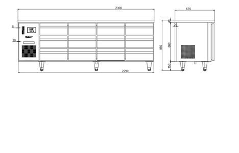 ban mat 12 ngan keo inox kolner bn23-xd12 (lam lanh quat gio) hinh 2