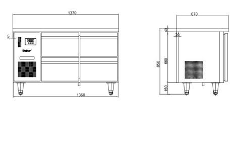 ban mat 6 ngan keo inox kolner bn14-xd6 (lam lanh quat gio) hinh 2