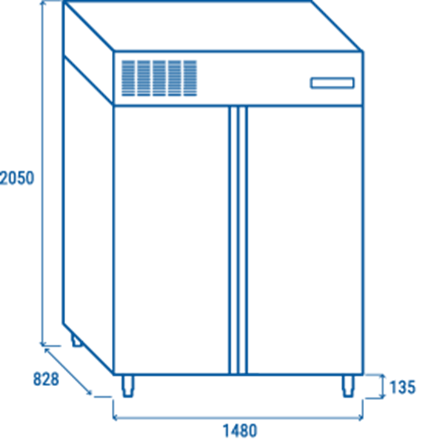 tu dong cool head rn 1400 (inox - freezer cabinet) hinh 9