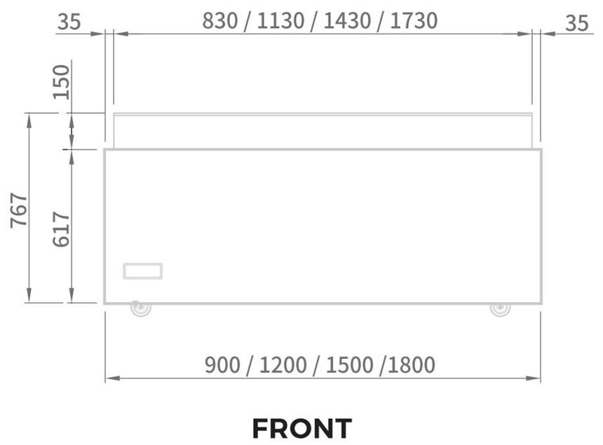 tu mat trung bay banh kem modelux 182 lit msos-1500 hinh 0