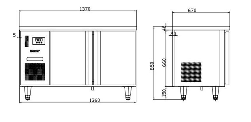 ban mat 2 canh inox kolner bn14-xl2 (lam lanh quat gio) hinh 0