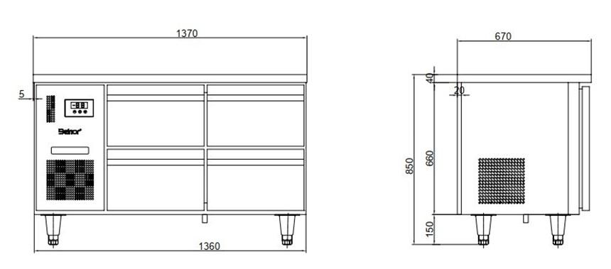 ban mat 6 ngan keo inox kolner bn14-xd6 (lam lanh quat gio) hinh 0