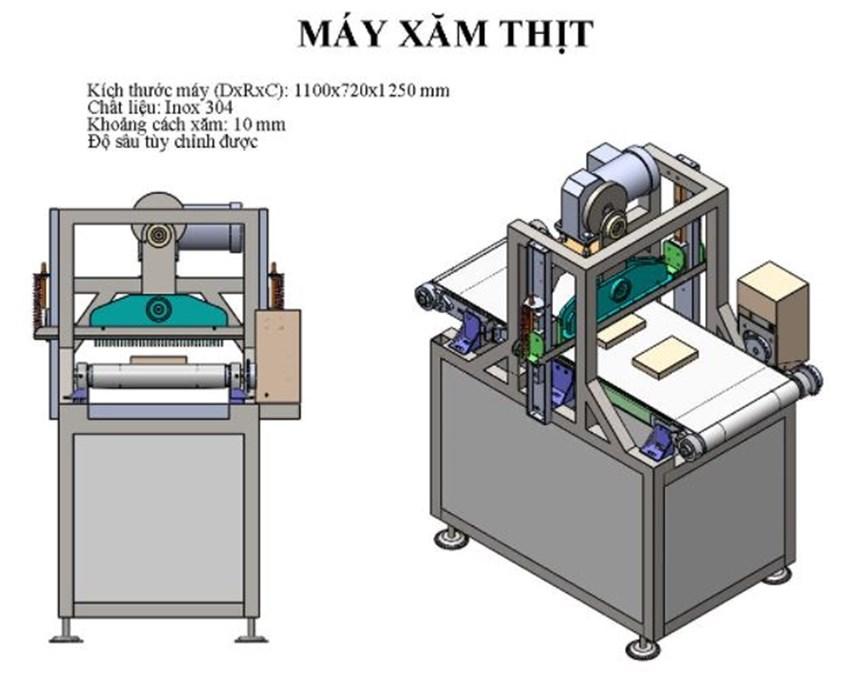 may xam thit okasu ks-1100 hinh 0